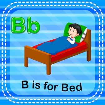Flashcard letter b è per il letto
