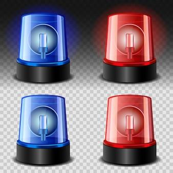 Flasher sirena set rosso e blu