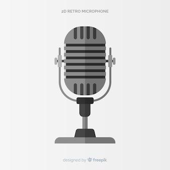 Flat retro microphone