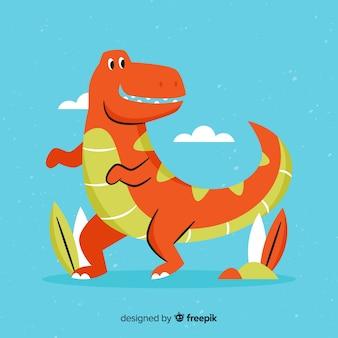 Flat t rex background
