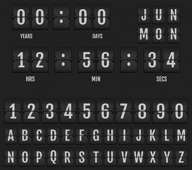 Flip calendario orologio da tavolo e timer.