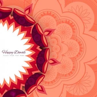 Floral background di diwali