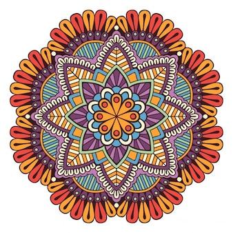 Floral background mandala design