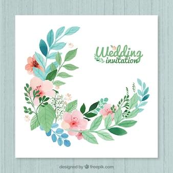 Floral invito a nozze