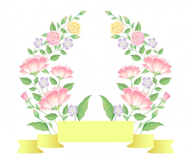 Floreale con decorazione modello nastro