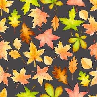 Floreale e foglie senza cuciture
