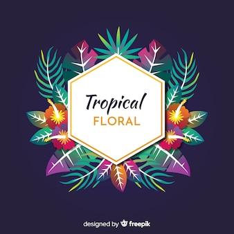 Floreale tropicale
