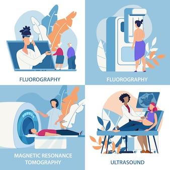 Fluorografia banner informativo, ultrasuoni.