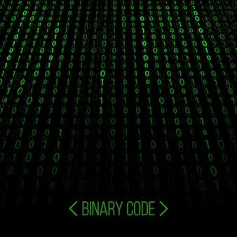 Flusso di codice binario. sfondo della matrice del computer.