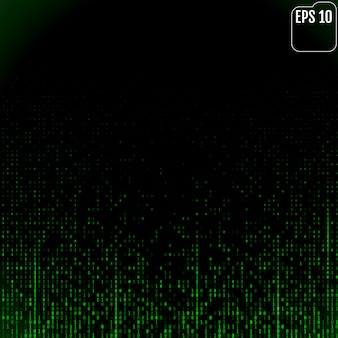 Flusso di codice binario sullo schermo
