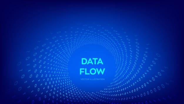 Flusso di dati binari. warp tunnel virtuale.