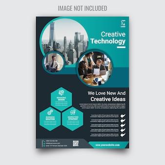 Flyer aziendale creativo e aziendale
