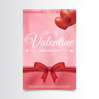 Flyer di san valentino