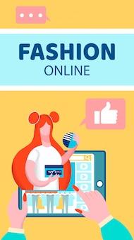 Flyer di video blog di moda