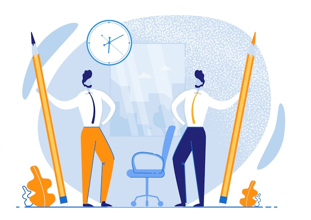 Flyer informativo gestione efficace del tempo. tempo di utilizzo più efficiente.