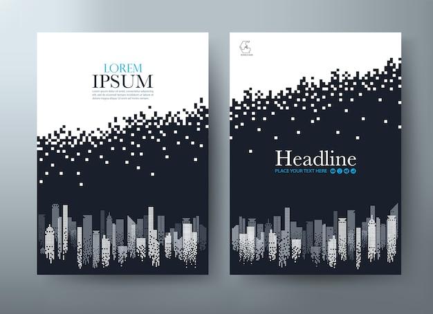 Flyer, modelli di copertina, layout in formato a4.
