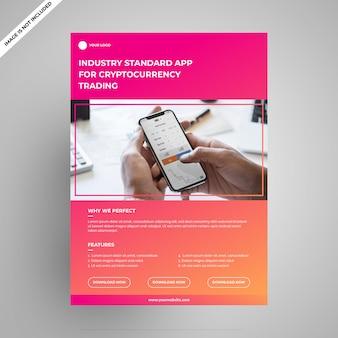 Flyer multiuso per applicazioni ultra modern cryptocurrency