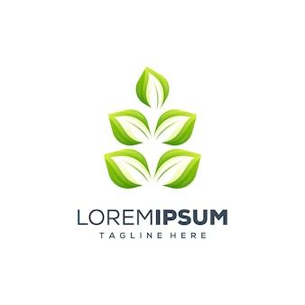 Foglia logo design illustrazione