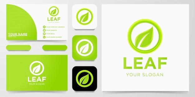 Foglia, logo design sano