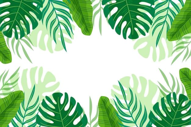 Fogliame tropicale sullo sfondo