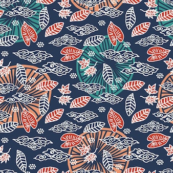 Foglie autunnali colorate e motivo a foglie