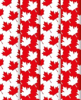 Foglie d'acero sfondo modello canadese