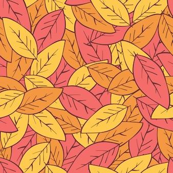 Foglie d'autunno senza motivo