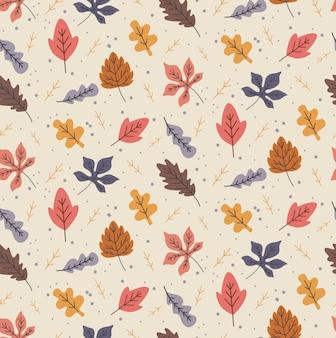 Foglie di autunno senza soluzione di continuità