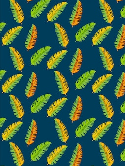 Foglie di banano senza motivo