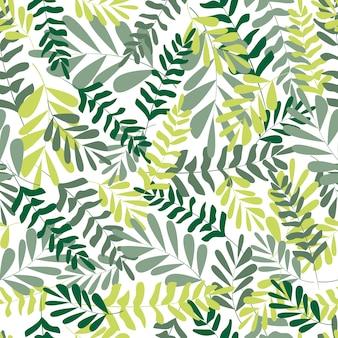 Foglie tropicali del modello senza cuciture floreale
