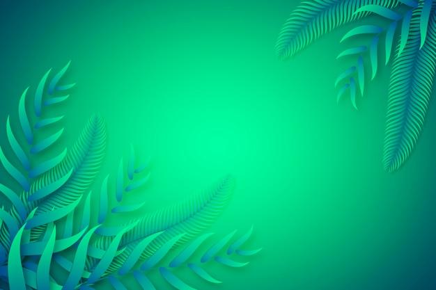Foglie tropicali verdi copiano il fondo dello spazio
