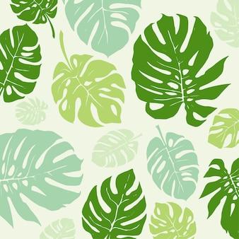 Foglie verdi sfondo pattern