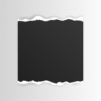 Foglio bianco di carta strappata per testo o messaggio. bordo di carta strappato.