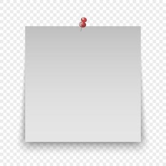 Foglio di carta per ufficio o adesivo appiccicoso
