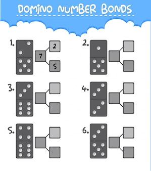 Foglio di lavoro dei numeri di domino