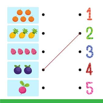 Foglio di lavoro di disegno vettoriale per bambino