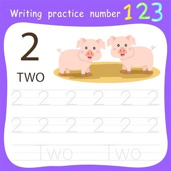 Foglio di lavoro pratica di scrittura numero due