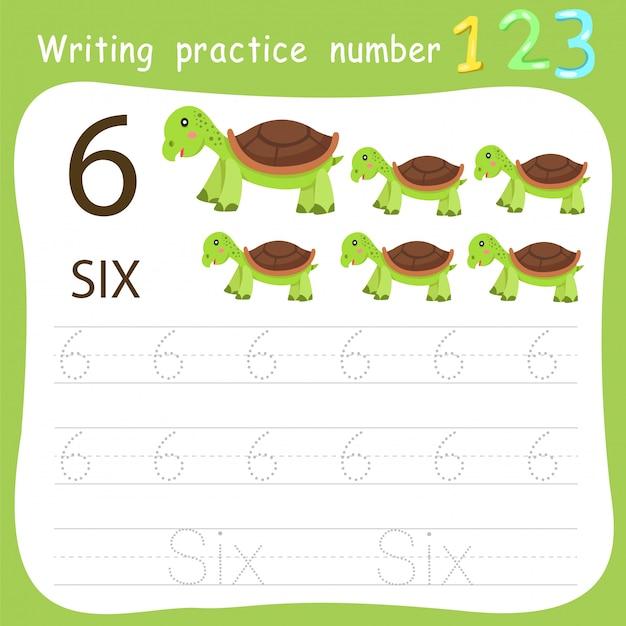 Foglio di lavoro pratica di scrittura numero sei