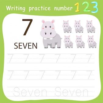 Foglio di lavoro pratica di scrittura numero sette