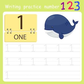Foglio di lavoro pratica di scrittura numero uno