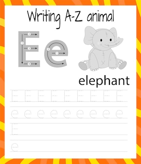 Foglio di pratica della scrittura a mano