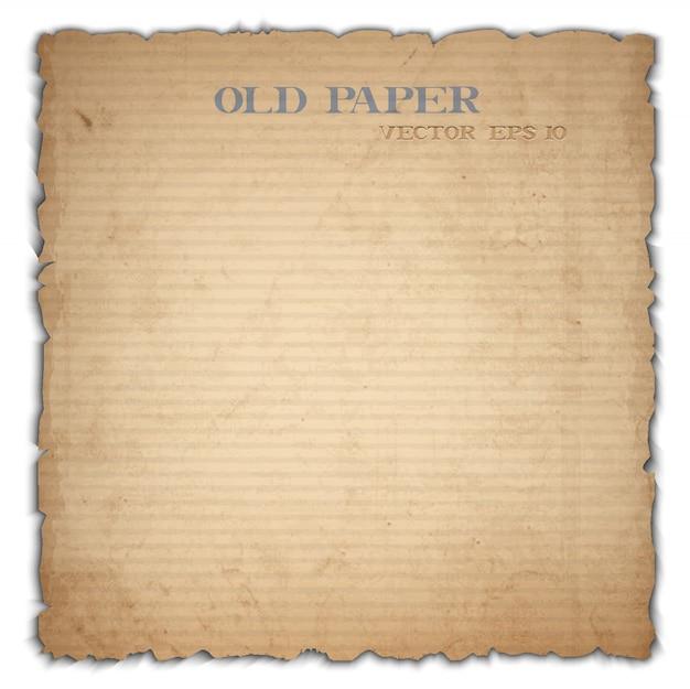Foglio di vecchio cartone
