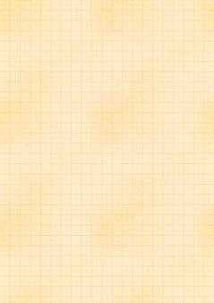 Foglio giallo formato a4 di vecchia carta con griglia millimetrica ingegneristica