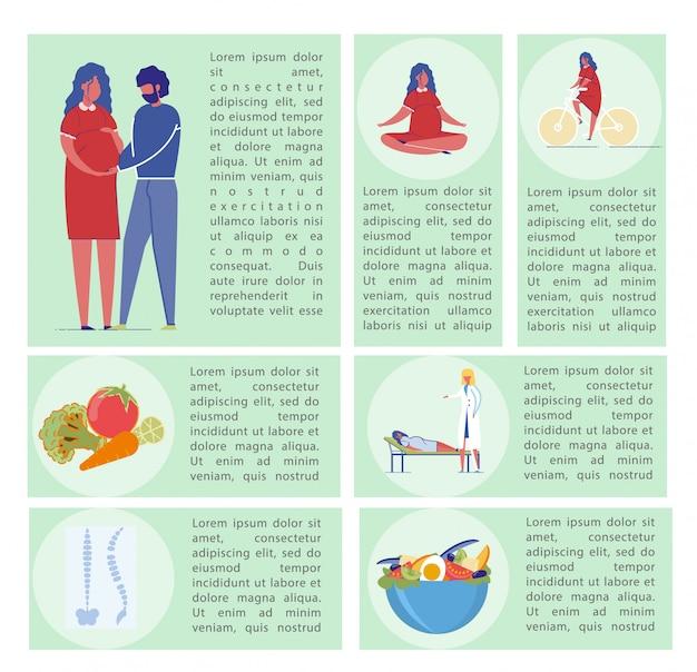 Foglio informativo sulla gravidanza.