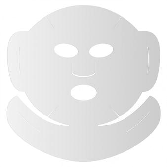 Foglio maschera facciale. viso in cotone cosmetico 3d