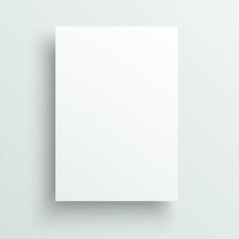 Foglio vuoto di modello di carta