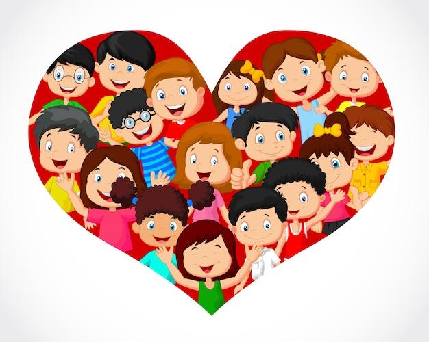 Folla di bambini