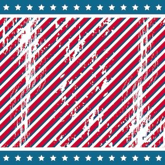 Fondo americano con l'illustrazione di vettore di lerciume delle stelle