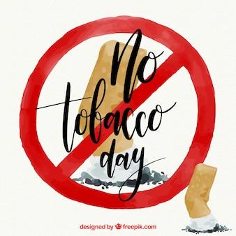 Fondo anti-fumo con simbolo proibita