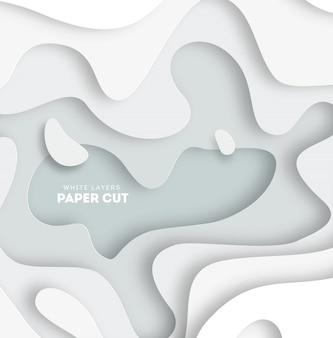 Fondo astratto 3d con le forme del taglio del libro bianco